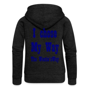 I chose My Way Navy - Women's Premium Hooded Jacket