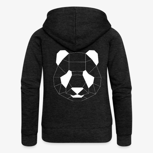 Panda Geometrisch weiss - Frauen Premium Kapuzenjacke