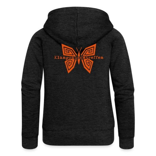 KlangRauschTreffen Schmetterling mit Schrift - Frauen Premium Kapuzenjacke