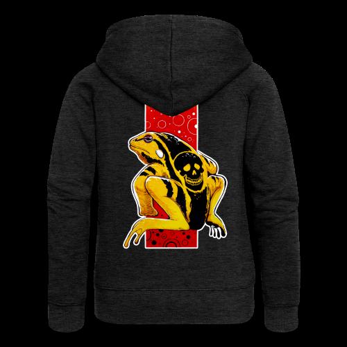 Death Frog - Rozpinana bluza damska z kapturem Premium