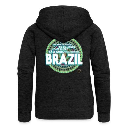 Lemon Brazil Mandala - Veste à capuche Premium Femme