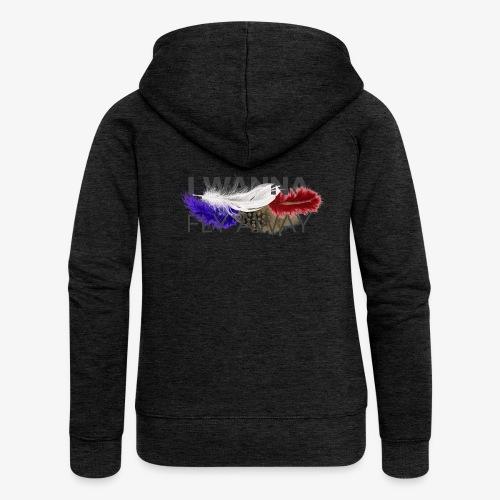 FLY AWAY - Rozpinana bluza damska z kapturem Premium