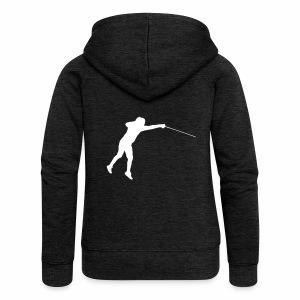Jumping Fencer - Frauen Premium Kapuzenjacke