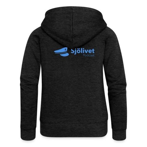 Sjölivet podcast - Svart logotyp - Premium luvjacka dam