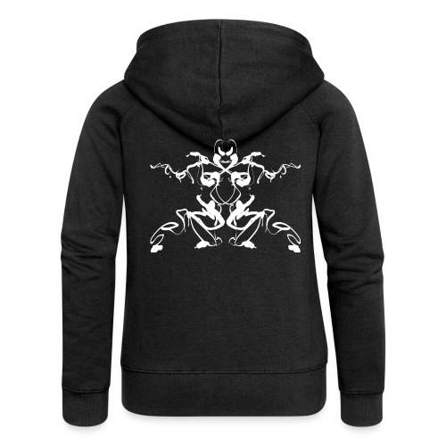 Rorschach test of a Shaolin figure Tigerstyle - Women's Premium Hooded Jacket