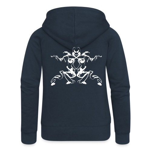 Rorschach test of a Shaolin figure Tigerstyle - Women's Premium Hooded Jacket