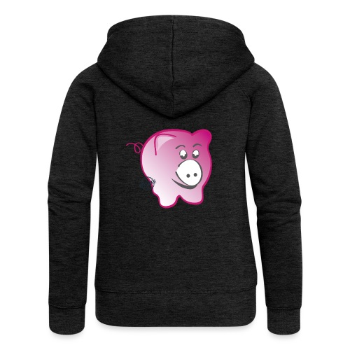Pig - Symbols of Happiness - Women's Premium Hooded Jacket