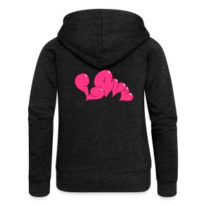 Love Bubble heart Style - Frauen Premium Kapuzenjacke