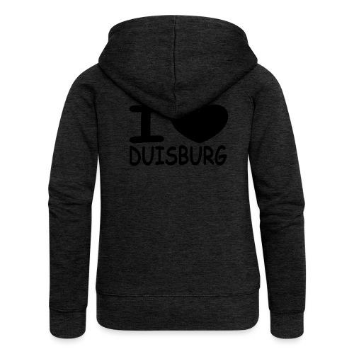 I ♥ Duisburg - Frauen Premium Kapuzenjacke