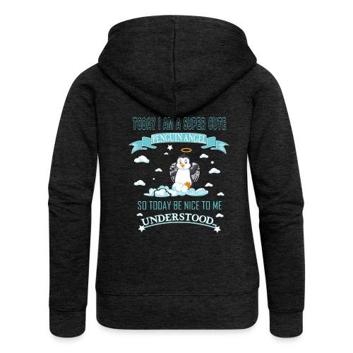 Pinguin Engel Weihnachten Antarktis Shirt Geschenk - Frauen Premium Kapuzenjacke