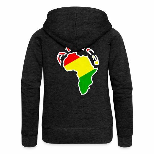 Afrika - rot gold grün - Frauen Premium Kapuzenjacke