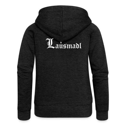 Lausmadl mit Hirsch - Frauen Premium Kapuzenjacke