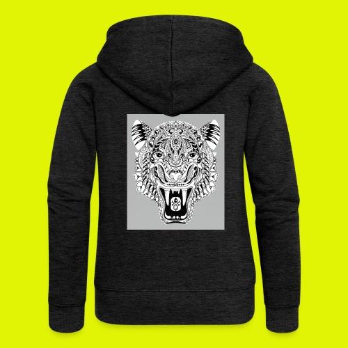 mandala tigre - Felpa con zip premium da donna
