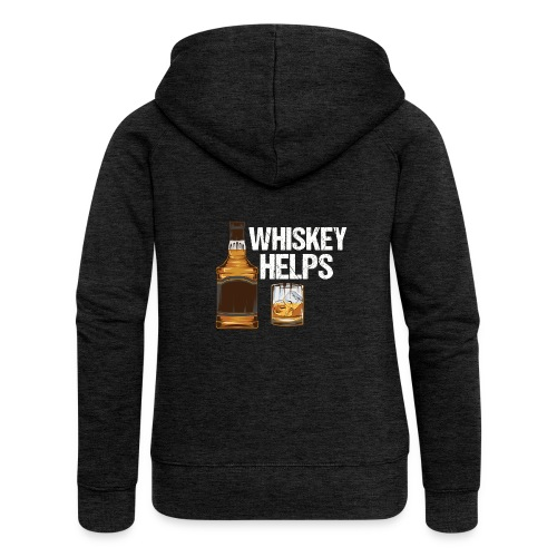 Whiskey helps - Alkohol - Frauen Premium Kapuzenjacke