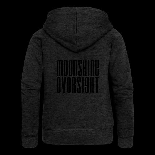 Moonshine Oversight noir - Veste à capuche Premium Femme