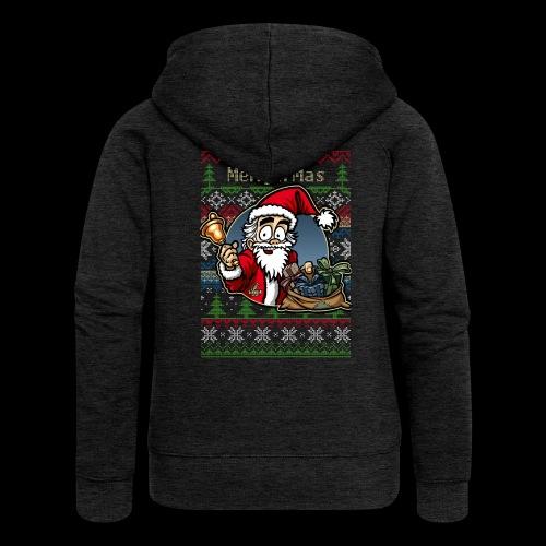 Merry X-Mas Weihnachtsmann - Frauen Premium Kapuzenjacke