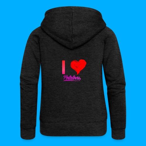 I Heart Potato T-Shirts - Women's Premium Hooded Jacket
