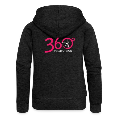 360 Pole Logo w White Writing - Women's Premium Hooded Jacket