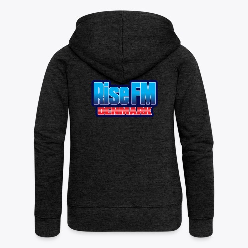Rise FM Denmark Text Only Logo - Women's Premium Hooded Jacket