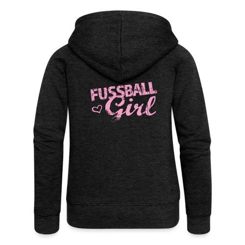 Fußball Girl - Frauen Premium Kapuzenjacke