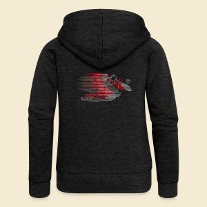 Radball   Earthquake Red - Frauen Premium Kapuzenjacke