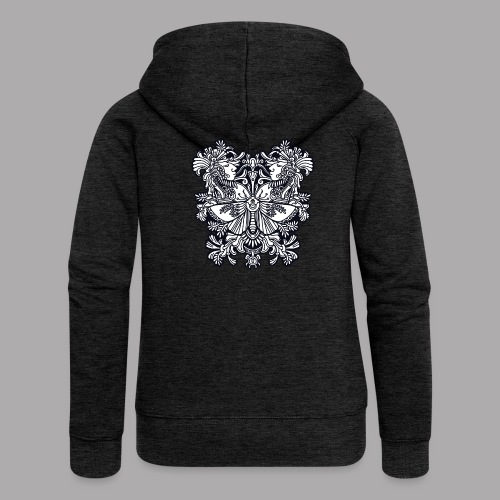 moth black - Women's Premium Hooded Jacket