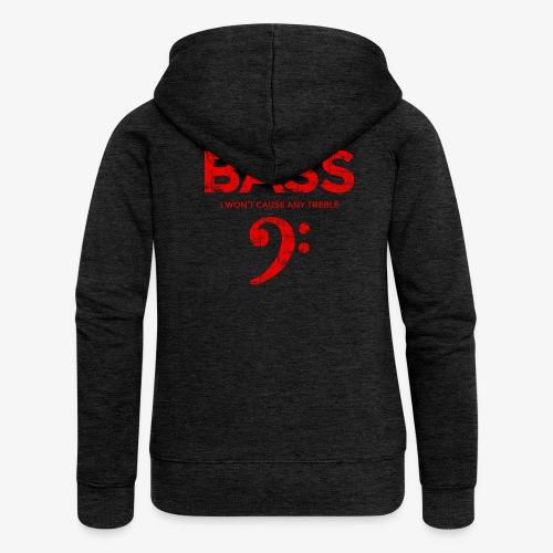 BASS I wont cause any treble (Vintage/Rot) Bassist - Frauen Premium Kapuzenjacke