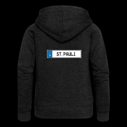Kennzeichen St.Pauli - Frauen Premium Kapuzenjacke