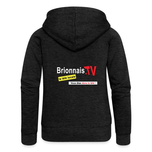 BTV logo shirt dos - Veste à capuche Premium Femme