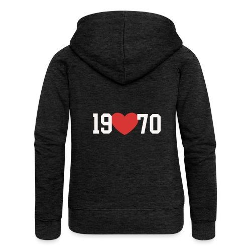 19 heart 70 - Frauen Premium Kapuzenjacke