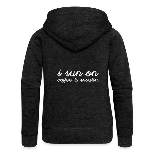 I run on coffee & insulin v4 ETU - Naisten Girlie svetaritakki premium