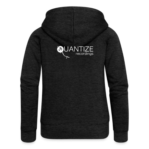 Quantize White Logo - Women's Premium Hooded Jacket