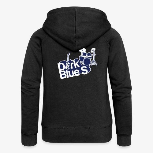 DarkBlueS outline gif - Women's Premium Hooded Jacket