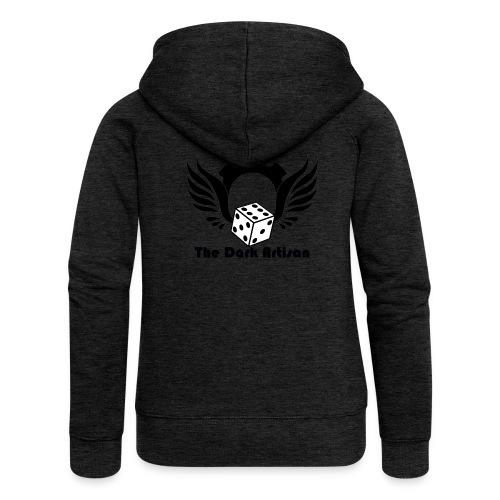 Black logo - Women's Premium Hooded Jacket