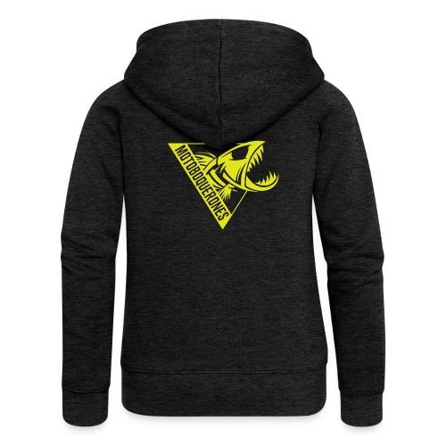 Logo Motoboquerones amarillo - Chaqueta con capucha premium mujer