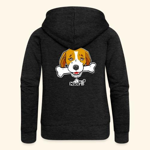 Nice Dogs Semolino - Felpa con zip premium da donna