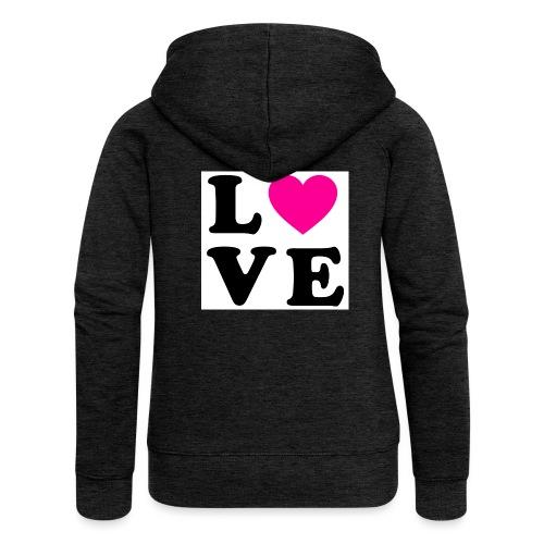 Love t-shirt - Veste à capuche Premium Femme
