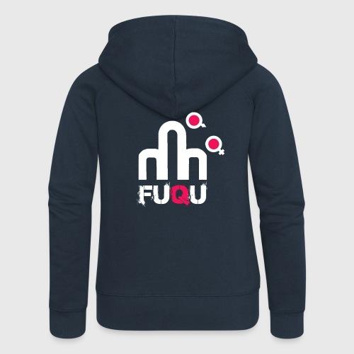 T-shirt FUQU logo colore bianco - Felpa con zip premium da donna