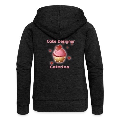 cupcakke - Felpa con zip premium da donna