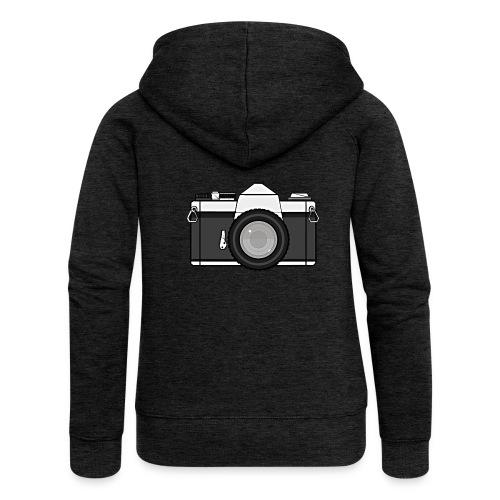 Shot Your Photo - Felpa con zip premium da donna