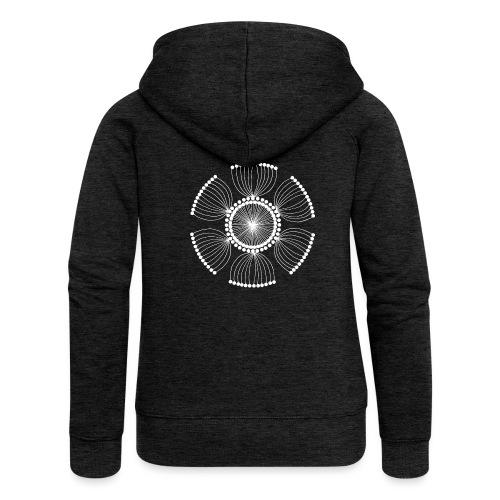 White Poppy Seed Mandala II - Women's Premium Hooded Jacket