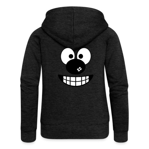 Funny cartoon face - Women's Premium Hooded Jacket