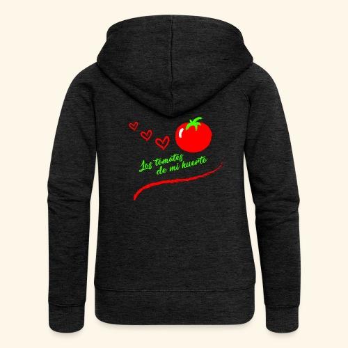 Tomates de mi huerto - Chaqueta con capucha premium mujer