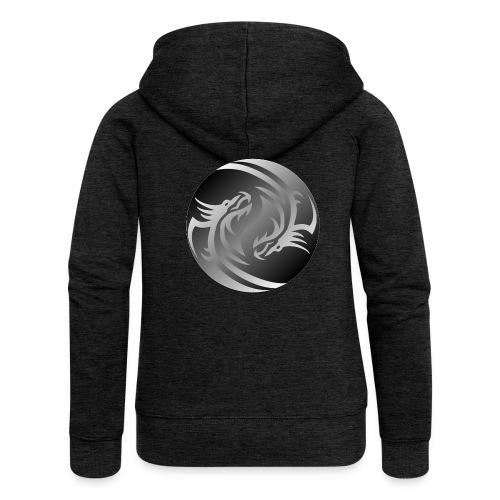 Yin Yang Dragon - Women's Premium Hooded Jacket