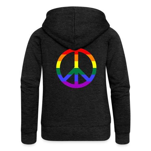Peace - Frauen Premium Kapuzenjacke
