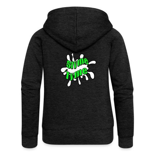 Slyme Tyme Logo / Green To White - Women's Premium Hooded Jacket