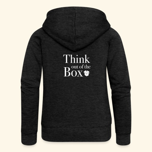 Designed MIndset Thinking Out Of The Box - Felpa con zip premium da donna