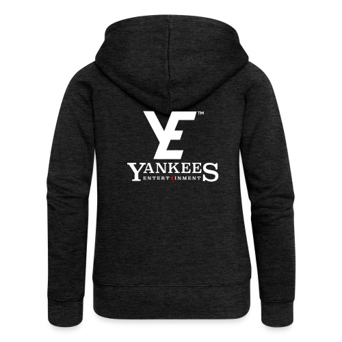 YE Logo White - Women's Premium Hooded Jacket