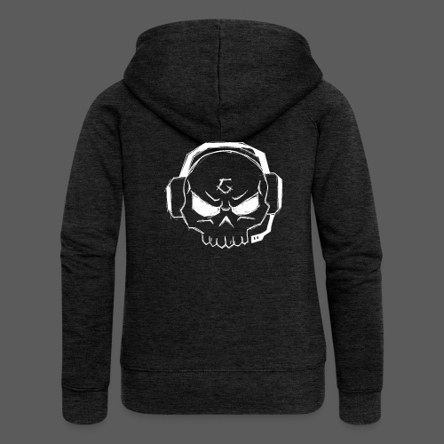 Gamer Skull Logo WHITE - Frauen Premium Kapuzenjacke