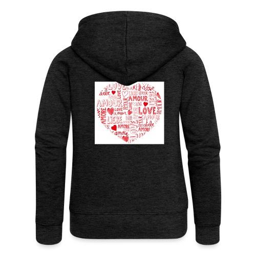 T-shirt texte amour - Veste à capuche Premium Femme